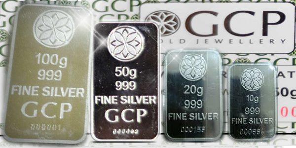 Silver bar GCP 10g,20g,50g dan 100g
