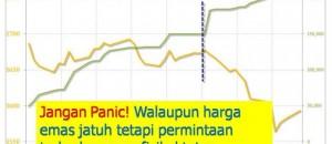 Harga emas jatuh :Masa untuk Membeli
